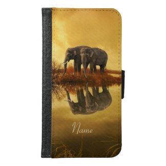 象の日没 GALAXY S6 ウォレットケース