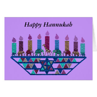 象の星の(ユダヤ教)メノラーカード カード