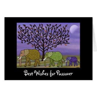 象の月の過ぎ越しの祝い カード