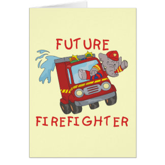 象の未来の消防士のTシャツおよびギフト カード