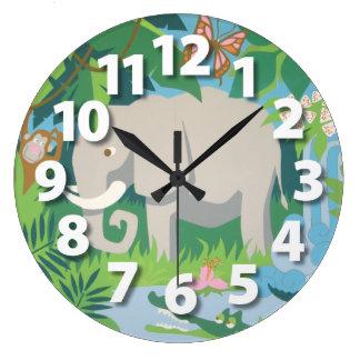 象の柱時計 ラージ壁時計