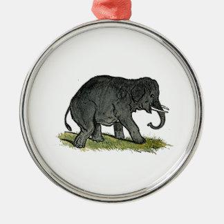 象の灰色の子供の漫画 メタルオーナメント