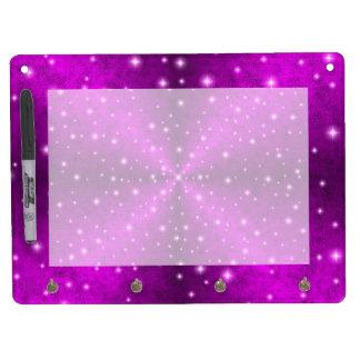 象の皮の革光学のピンクの虹 キーホルダーフック付きホワイトボード