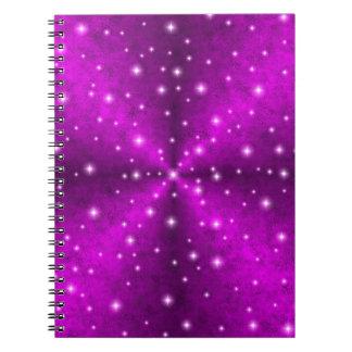 象の皮の革光学のピンクの虹 ノートブック