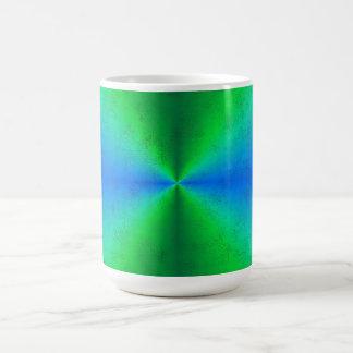 象の皮の革光学の青緑の虹 コーヒーマグカップ