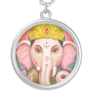 象の神のGaneshaのヒンズー教ネックレス シルバープレートネックレス