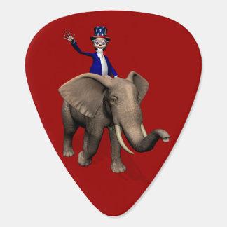 象の米国市民乗馬 ギターピック