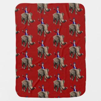 象の米国市民乗馬 ベビー ブランケット