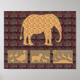 象の芸術$8 - $15 ポスター
