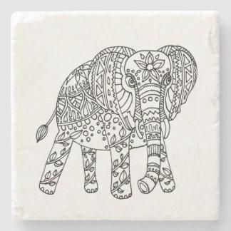 象の落書きのコースター ストーンコースター