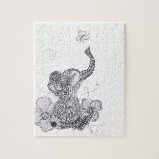 象の蝶 ジグソーパズル