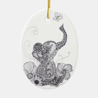 象の蝶 セラミックオーナメント