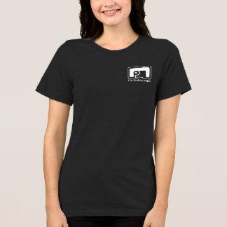 象の記号の女性の黒いjerseyのTシャツHQH Tシャツ