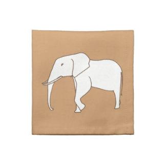 象の輪郭のスケッチの着色のナプキン ナプキンクロス