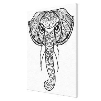 象の頭部の落書き11 キャンバスプリント