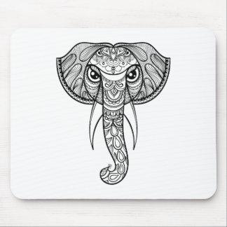 象の頭部の落書き マウスパッド