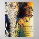 象のGandhiの引用文ポスター ポスター