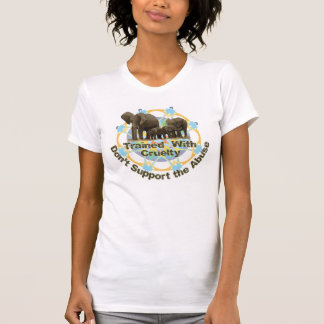 象は残酷と訓練されます Tシャツ
