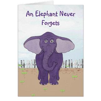 象は決して-特別なバースデー・カードを忘れません グリーティングカード