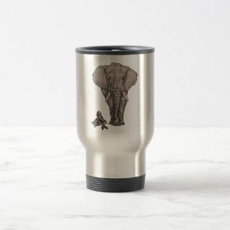 象を持つバレリーナの女の子 トラベルマグ