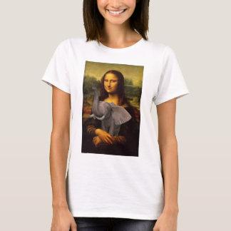 象を持つモナ・リザ Tシャツ