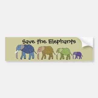 象を救って下さい バンパーステッカー