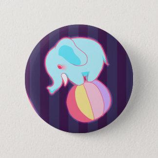 象ボタン 5.7CM 丸型バッジ