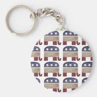 象共和党GOPの群れ キーホルダー