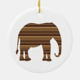 象動物の野生ペット金ゴールドのストライプブラウンNVN286 セラミックオーナメント