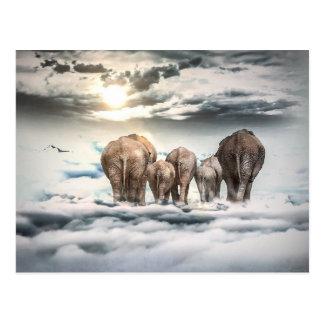 象家族カード ポストカード