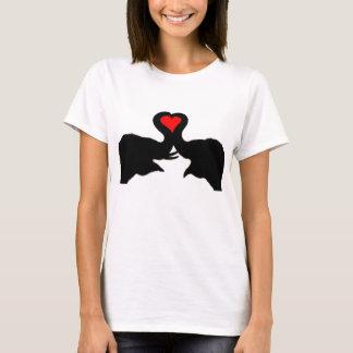 象愛女の子のティー Tシャツ