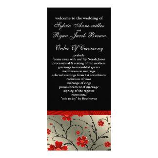 象牙色|赤い|黒|花柄|結婚|プログラム