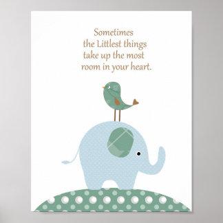 象鳥の子供部屋の芸術 ポスター