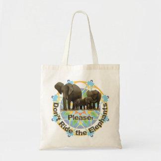 """""""象""""にトートバック乗らないで下さい トートバッグ"""