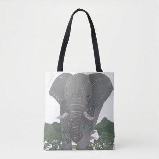 象、アフリカ動物、野生の生命 トートバッグ