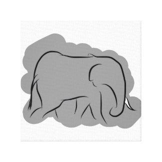 象 キャンバスプリント