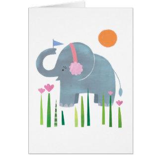 象 グリーティングカード
