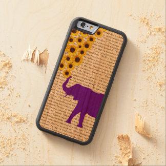 象、ヒマワリ及びジェーンEyre CarvedチェリーiPhone 6バンパーケース