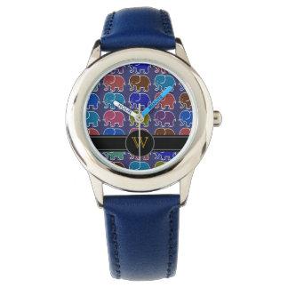 象。 モノグラム。 イニシャル 腕時計