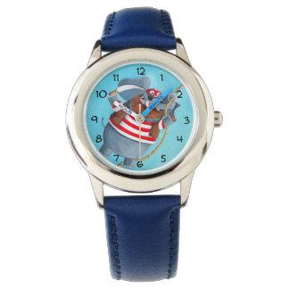 象-最も最高のな海賊動物 腕時計