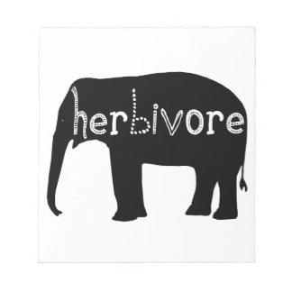 象-草食動物 ノートパッド