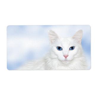豪奢で白い猫 ラベル