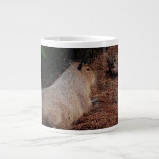 豪奢なカピバラの背部眺め動物 ジャンボコーヒーマグカップ