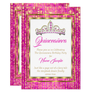 豪奢なプリンセスのピンクのキンセアニェラの金ゴールドの白 カード