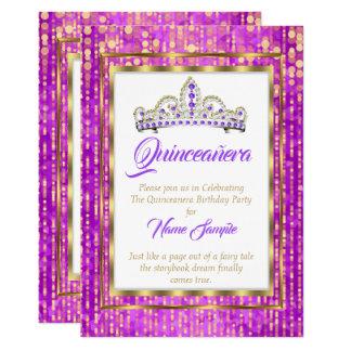 豪奢なプリンセスの紫色のキンセアニェラの金ゴールドの白 カード
