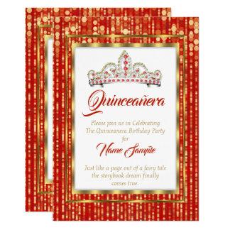 豪奢なプリンセスの赤いキンセアニェラの金ゴールドの白 カード