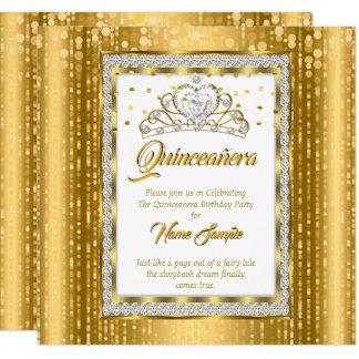 豪奢なプリンセスキンセアニェラの金ゴールドの白のダイヤモンド カード