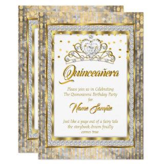 豪奢なプリンセスキンセアニェラの金ゴールドの白の銀 カード