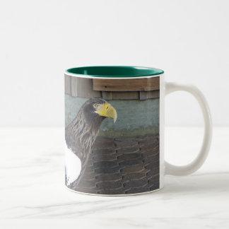 豪奢なワシ ツートーンマグカップ