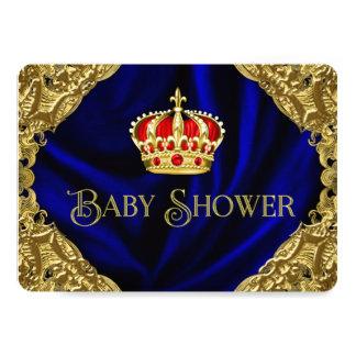 豪奢な王冠のベビーシャワー カード